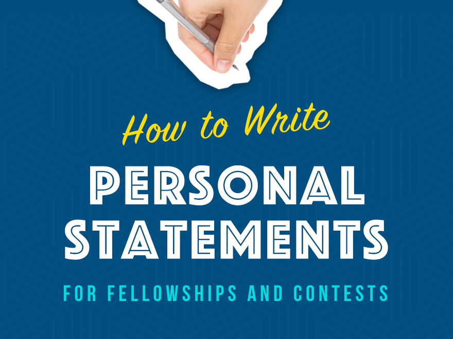 How to Write Personal Statements